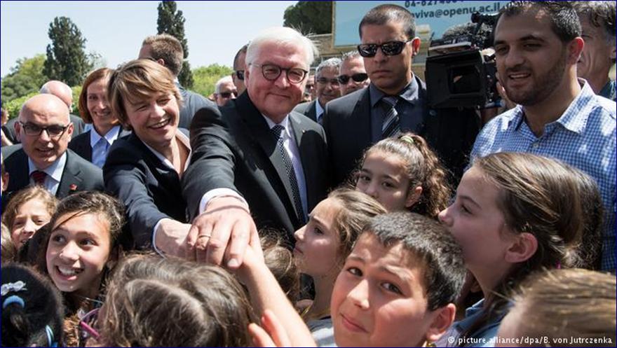 Bezoek Steinmeier en zijn vrouw aan Givat Haviva